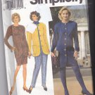 Simplicity 8043 Pattern 18 20 22 24 Plus Uncut Semi-Fitted Dress Jacket Slim Pants Skirt