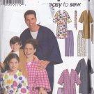 Simplicity 9834 Pattern Uncut Men Women Boys Girls Children Robe Pajama Pants