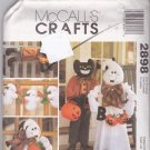 McCall's 2898 Pattern Halloween Fall Decor Ghost Black Cat Witch Feet