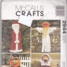 McCall's 2944 Pattern Halloween Fall Christmas Decor 50 inch Greeters