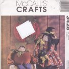 McCall's 3428 Pattern Halloween Witch Doll Pumpkin Elf Wall Hanging Halloween
