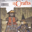 Simplicity 8384 Pattern Halloween Witch Scarecrow Doll and Clothes Halloween Fall