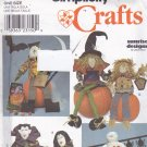 Simplicity 8810 Pattern Halloween Scarecrow Vampires Mummy Monster Dolls