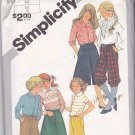 Simplicity 5314 Pattern Uncut Girls 12 Knickers Bermuda Shorts Culottes Skirt Pants