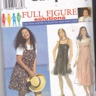 Simplicity 9644 Pattern 18W 20W 22W 24W Plus Uncut 2 Hour Dress and Top Mary Duffy