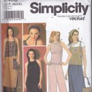 Simplicity 9483 Pattern XS S M L Uncut Pants Skirt Crochet Granny Square and Halter Tops Bag