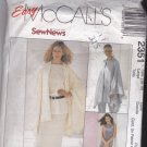 McCall's 2351 Pattern 16 18 Uncut Cape Pullover Dress Top Pull On Pants Skirt for Stretch Knits