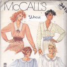 McCall's 3415 Pattern 6 Uncut Blouse Peter Pan Ruffled Collar Front Tucks Lace Trim Puff Sleeves