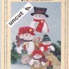 Meltin' Family Jar Topper Pattern Krafdee & Co. #847 Uncut Snow Man Woman