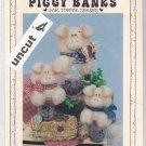 Piggy Banks Jar Topper Pattern Krafdee & Co. #849 Uncut Pig Hog