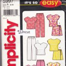Simplicity 5997 Pattern Uncut 8 10 12 14 16 18 Summer Separates Easy to Sew