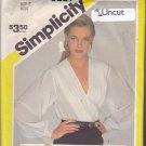 Simplicity 6221 Pattern Uncut 8 Front Wrap Blouse Plunge Neckline