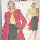 Vogue 8115 Pattern Uncut 12 14 16 Unlined Flared Jacket Mock Wrap Dress