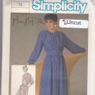 Simplicity 6780 Pattern 14 Uncut Button Front Dress Pleated Bodice Flared Skirt Mary McFadden