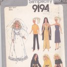 Simplicity 9194 Pattern Uncut Fashion Doll Clothes Barbie Cher Farrah Dresses Kimono