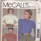 McCall's 8682 Uncut 10 Long Sleeve Blouse Yoke Tucks Gathers Bias Tie Collar Bow