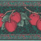 D W Wallcovering Border 0113 Apples Blossoms Dark Green Red 3.75 in x 4 yards Fruit
