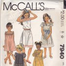 McCall's 7940 Uncut 14 Girls Teen Dress Yoke Puff Sleeve Square Neck