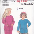 Simplicity 7966 Uncut 3 4 5 6 6X Stirrup Pants Skirt Top Girls Toddlers