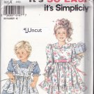 Simplicity 8070 Uncut 2 3 4 5 6 6x Toddlers Girls Dress Pinafore