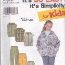 Simplicity 8305 Uncut Girls 7 8 10 12 14 16 Zip Hoodie Jacket Vest Pants Easy