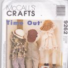 McCall's 9262 Uncut Time Out Kids 36 inch Dolls with Clothes Faye Wine