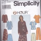 Simplicity 8226 XS S M Uncut Separates Top Flared Gored Skirt Pants Scarf Modest