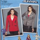 Simplicity 1781 uncut 14 16 18 20 22 Plus Jacket with Variations Project Runway