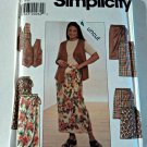 Simplicity 7614 Vest Wrap-Look Skirt Scooter/Shorts 18W 20W 22W 24W plus Uncut