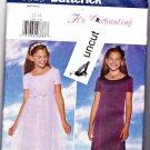 Butterick 5383 Pattern Girls 12 14 Lined Long Dress Empire Waist Occasion Uncut