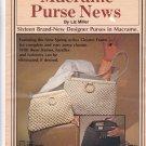 Vintage Macrame Purse News Pattern Book Liz Miller 7332 Plaid