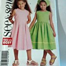 Butterick See & Sew B5165 Girls Dress Scarf 2 3 4 5 Toddlers Uncut