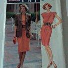 Butterick 4701 Pattern Leslie Fay Dress Short Sleeve Jacket 14 16 18 Uncut