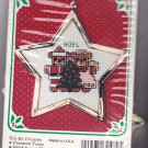 New Berlin Co. Counted Cross Stitch Ornament Kit 1579 Bears with Tree Star Shaped Frame