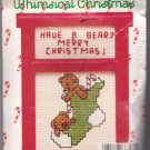 New Berlin Co. Counted Cross Stitch Ornament Kit 033501 Beary Merry Christmas
