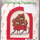New Berlin Co. Counted Cross Stitch Ornament Kit 033413 Sleigh Ride Bunnies