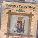 Country Collectibles Counted Cross Stitch Kit T8633 Boy with Duck