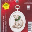 Janlynn Counted Cross Stitch Ornament Kit 1143-46 Polar Bear