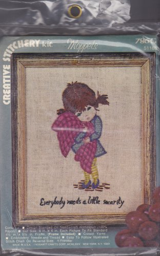 Creative Stitchery Crewel Embroidery Kit Moppets Security Blanket 786G