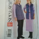 Butterick See & Sew 3942 Easy Vest Top Skirt Pants Pattern 14 16 18 uncut