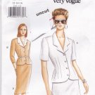 Vogue 9269 Easy Pattern 12 14 16 Semi Fitted Top or Jacket Skirt Uncut