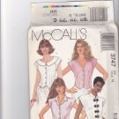 McCall's 3747 Pattern 14 Uncut Frog or Button Front Blouse Collar Variations