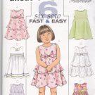 Butterick B4434 Uncut 4 5 6 Toddlers Girls Tiered Dress Rick Rack Lace Easy to Sew