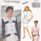 Vintage Butterick 5998 Easy Pattern 12 14 16 Top Skirt David Warren Uncut