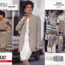 Vogue 2834 Pattern 12 14 16 Tamotsu Easy Jacket Dress Top Skirt Shorts Uncut