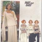Vintage Butterick 4562 Top Skirt Pants Stole for Stretch Knits 16 Dressy Uncut