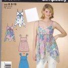 Simplicity 3730 Boho Top Handkerchief Hem 6 8 10 12 14 16 uncut