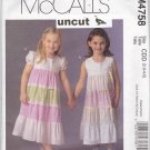 McCall M4758 Uncut 2 3 4 5 Girls Toddlers Tiered Sundress Ruffles Dress