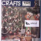 McCall Pattern 9224 Uncut Christmas Ornament Stocking German Doll Broom Cover