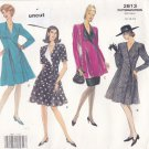 Vogue 2813 Pattern 12 14 16 Easy A-Line Double Breasted Tunic Skirt Dress Uncut